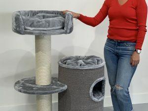 Krabpaal Cat Pleasure Light Grey