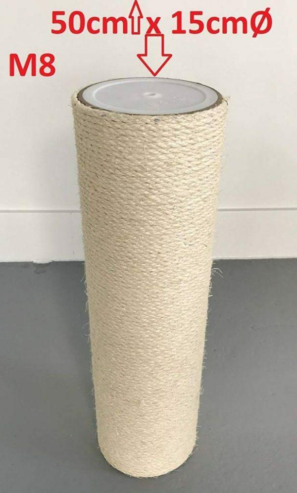 Krabpaal onderdelen Sisalpaal 50x15 M8