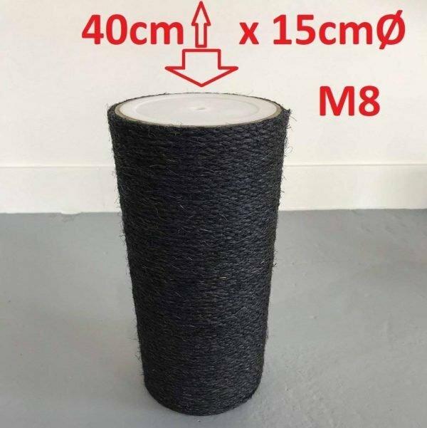 Krabpaal onderdelen Sisalpaal 40x15 M8 BLACKLINE