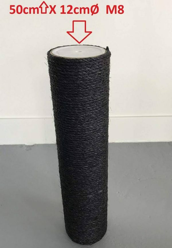 Krabpaal onderdelen Sisalpaal 50x12 M8 BLACKLINE