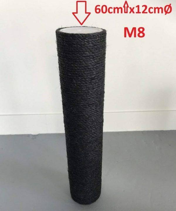 Sisalpaal 60x12 M8 onderdeel voor BLACKLINE krabpaal