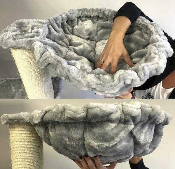 Hangmat 45cm de Luxe Light Grey Ø 20cm
