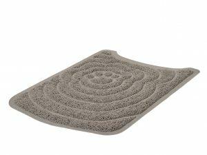 Mat voor kattenbak grijs 55x40cm