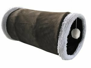 Tunnel kat pluche ritsel bruin 50cm