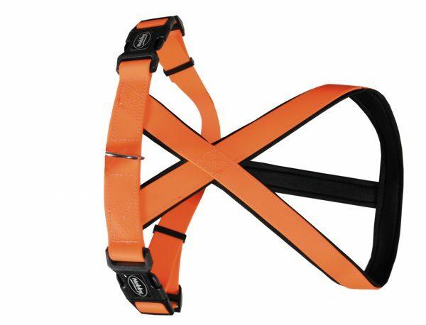 Harnas hond Biothane oranje 20mmx30-40cm