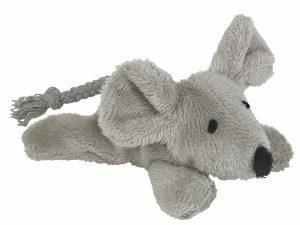 Speelgoed kat pluche muis grijs 13,5cm