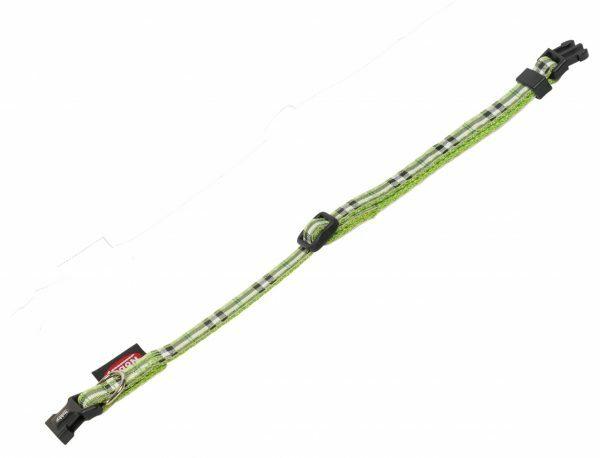 Halsband hond nylon Schotse Ruit groen10mmx20-35cm