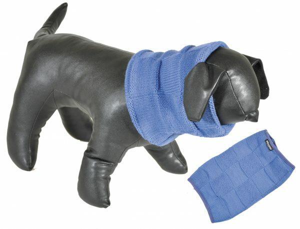 Sjaal blauw 40cm