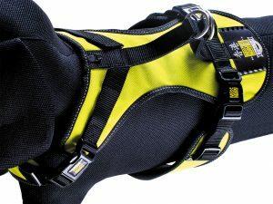 Harnas matrix Neo Yellow nek 39-43cm borst 46-60cm