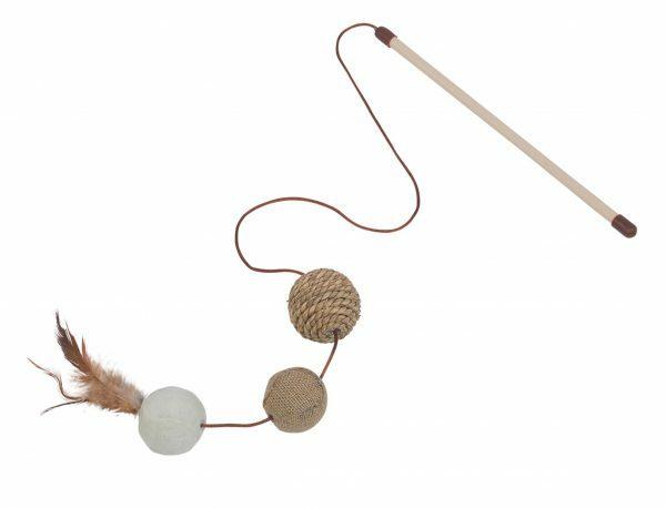 Speelgoed kat hengel sisal ballen 25cm