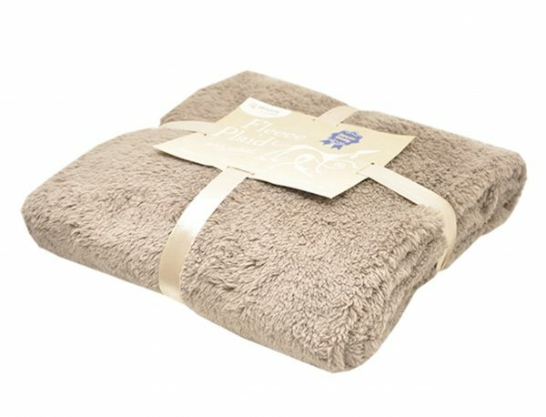 Deken fleece Long Pile beige 130x170cm