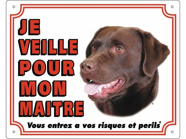 Waakbord PVc bruine Labrador Retriever wit FR