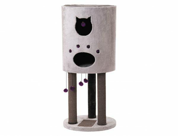 Kattenklim Sheltos donker-& lichtgrijs 55x55x124cm