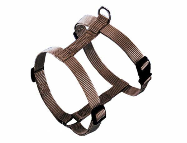 Harnas hond nylon Classic bruin 10mmx25-35cm