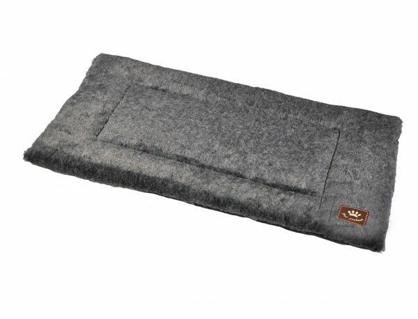 Platte matras Coban donkergrijs 90x58cm