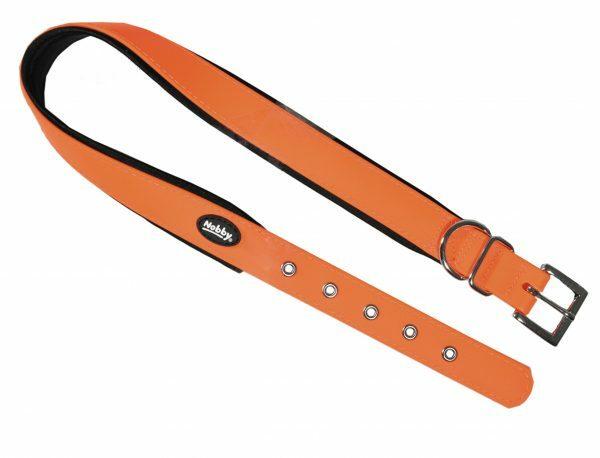 Halsband hond Biothane oranje 20mmx35-45cm