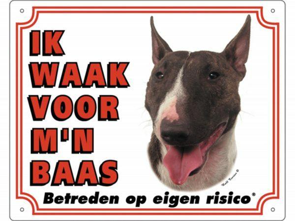 Waakbord PVc Bulterriër wit NL