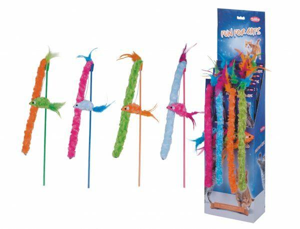 DIS18 Speelgoed kat hengel Ocean Ass. 45cm