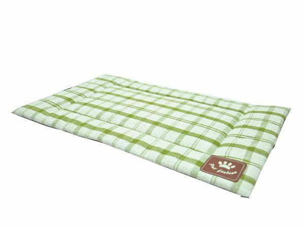 Platte matras Checker groen 54x32cm