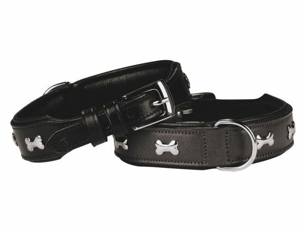 Halsband cerro Leder zwart 40 cm x 30 mm