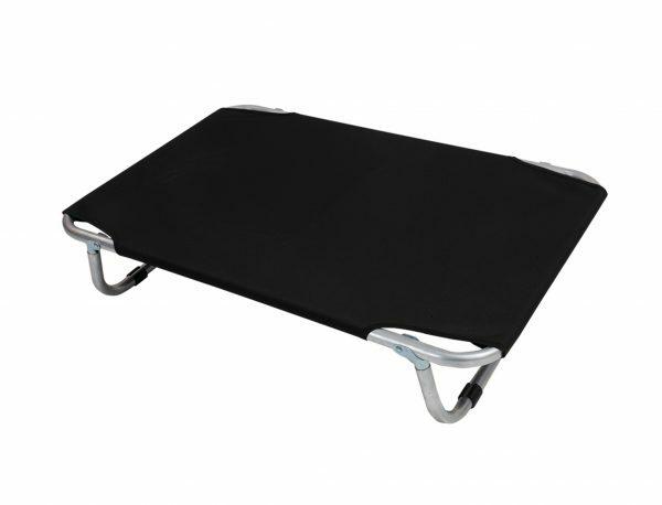 Bed aluminium zwart 80x50cm