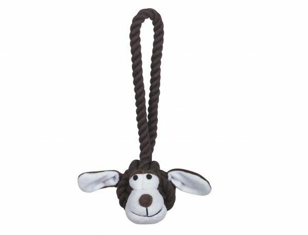 Speelgoed hond katoen Doggy bruin/wit S 25cm