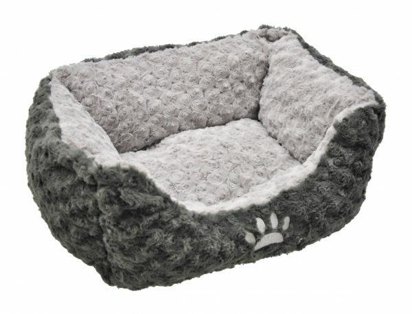 Hondenmand fleece Modern grijs 40x30cm