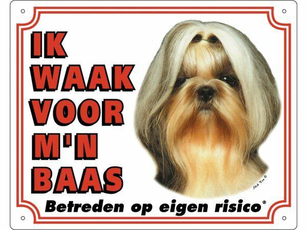 Waakbord PVc Shih Tzu wit NL