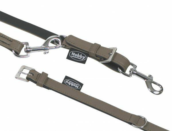 Halsband hond nappaleder stone 42cmx20mm