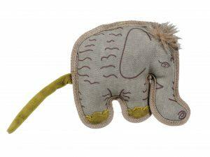 Speelgoed hond canvas olifant 18cm