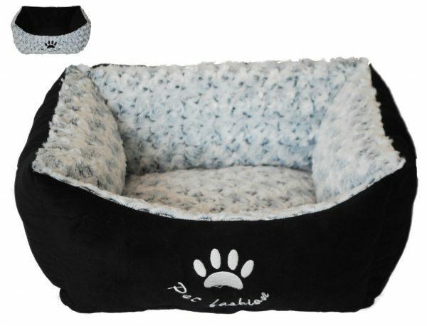 Hondenmand Menka zwart/wit 45x40x19cm