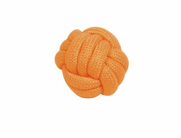 Spgd hond katoen Montain bal oranje 6,5cm