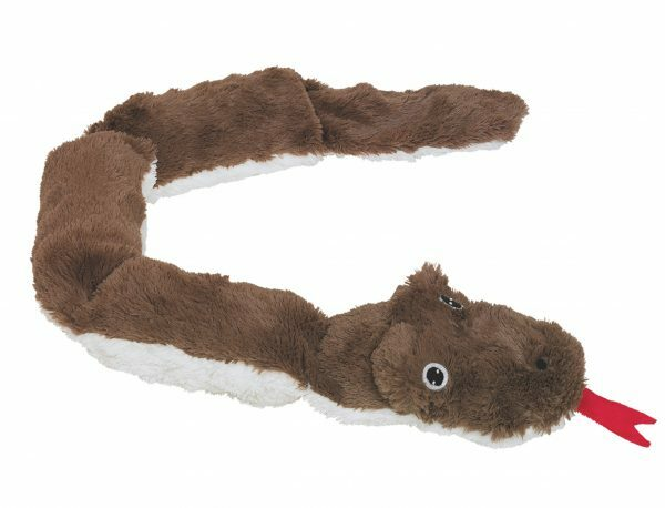 Speelgoed hond pluche slang bruin 85cm
