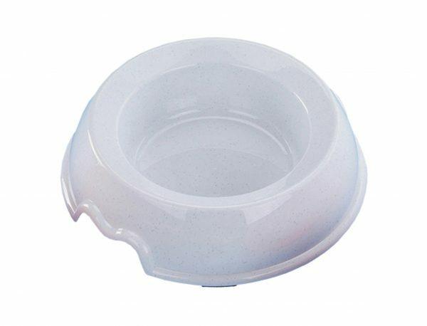 Eetpot antislip plastic wit 1 l