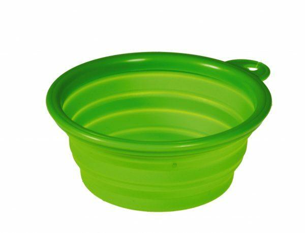 Reis eetpot silicone groen 13cm