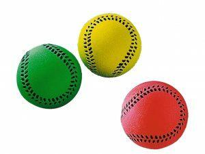 Speelgoed hond gummi basebal Ass. 6 cm