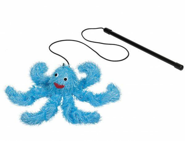 Speelgoed kat hengel Octopus & catnip 21cm