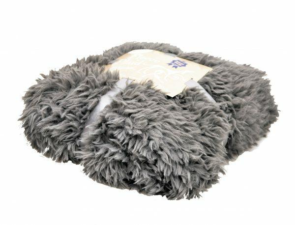 Deken fleece Polar donkergrijs 100x150cm