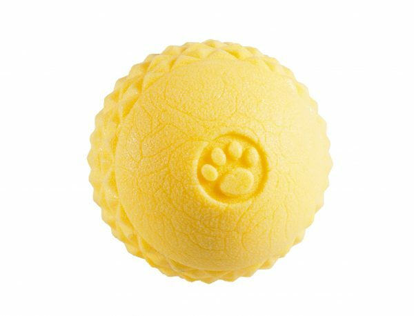 Speelgoed hond TPR bal Yellow Vanilla 6,4cm