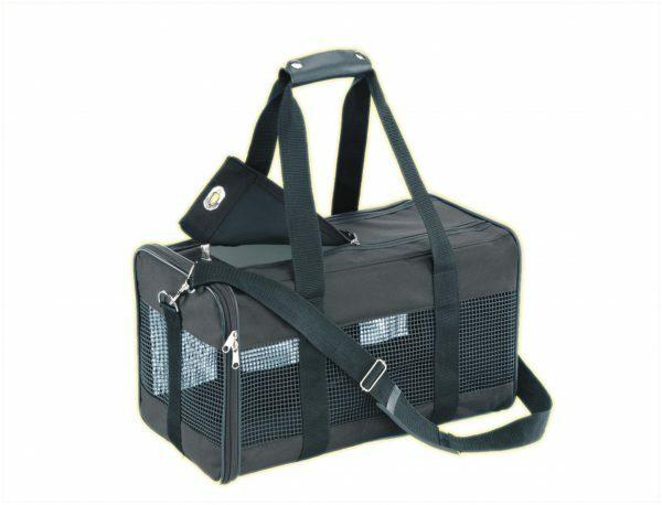 Transport nylon zwart 48x27x25cm  S