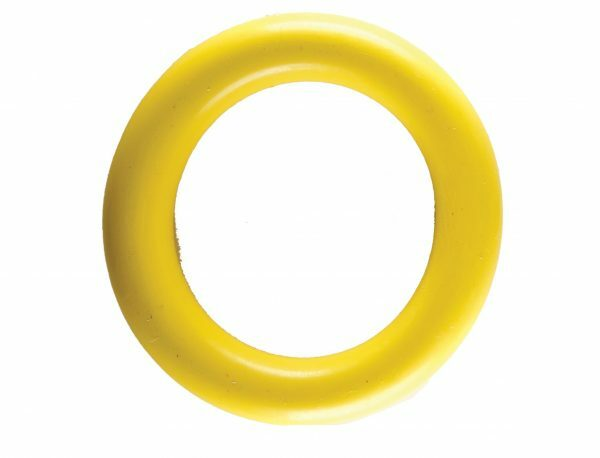 Speelgoed hond rubber ring geel Ø15cm