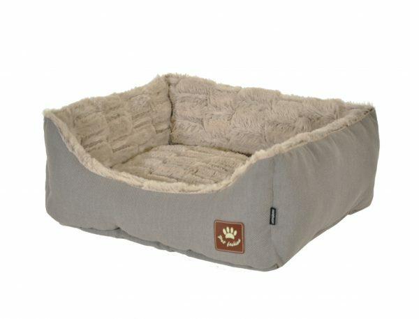 Hondenmand Asma taupe/grijs 60x48x19cm