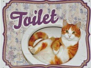 Waakbord kat Toilet NL