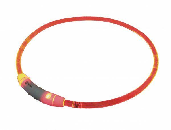 LED Lichtgevende halsband Visible rood 65cm USB