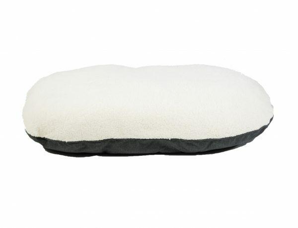 Kussen Himalaya antraciet/crème 92x59cm