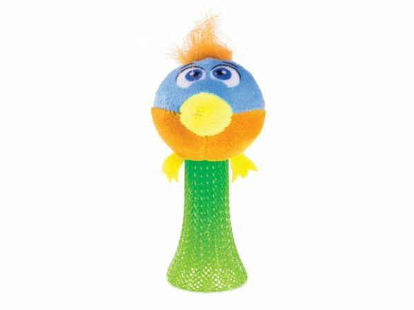 Speelgoed kat pluche hopping vogel 10cm