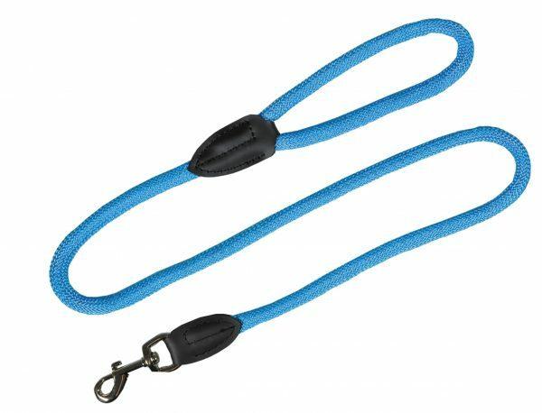 Leiband nylon rond  lichtblauw 9mmx120cm