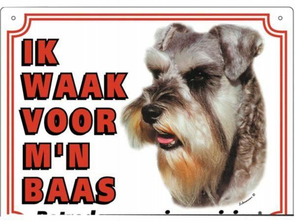 Waakbord PVc Schnauzer wit NL