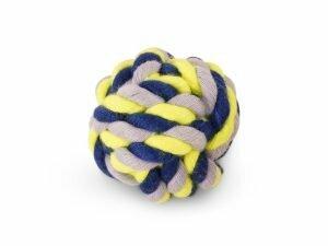 Katoenen bal blauw-geel 50g Ø5,5cm