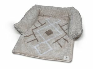 Sofa bed Berber Caramel 80x60x7cm